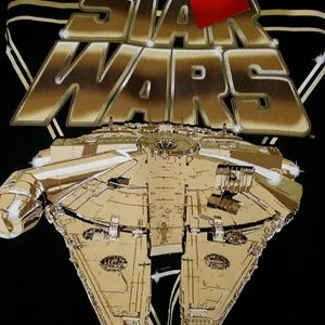 Men's Star Wars Tee Shirt Size XL BLACK. And Tan